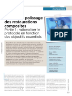 1 Finition et polissage des restaurations composites