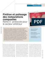 3 Finition et polissage des restaurations composites(1)