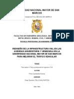PROYECTO TESIS - REDISEÑO DE LA INFRAETRUCTURA VIAL EN LAS AVENIDAS UNIVERSITARIA Y VENEZUELA EN LA UNIVERSIDAD NACIONAL MAYOR DE SAN AMRCOS PARA MEJORAR EL TRAFICO VEHICULAR