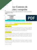 Contexto de Producción y Recepción