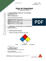 HOJA DE SEGURIDAD DESMOLDANTE