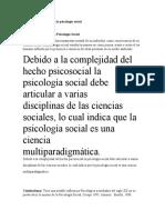 Enfoques Teóricos de la Psicología Social