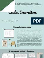 Estilos Decorativos - Disciplina - Linguagem e Composição Ambiental (PDF)