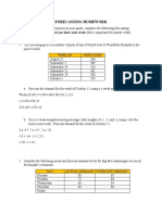 Week 3 Forecasting Homework