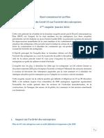 Effets Du Covid-19 Sur l'Activité Des Entreprises 3ème Enquête -Janvier 2021- (Version Fr)