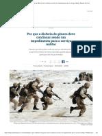 Por que a disforia de gênero deve continuar sendo um impedimento para o serviço militar _ Gazeta do Povo