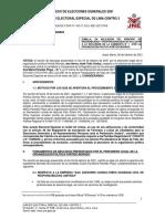 Desestiman exclusión de Susel Paredes por presunta omisión de información