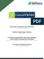 Ensayo argumentativo del centro educativo como núcleo de desarrollo profesional_ MARTHA_SOLANO