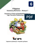 Filipino6 Q2 Mod7 KayarianAtTinigNgPandiwa v3