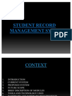student record managment synopsis