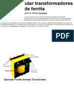 Cómo calcular transformadores de núcleo de ferrita »Wiki Ùtil Proyectos de circuitos caseros