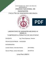 COMPRESOR DE DOS ETAPAS