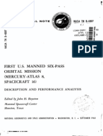 First U.S. Manned Six-Pass Orbital Mission Mercury-Atlas 8, Spacecraft 16
