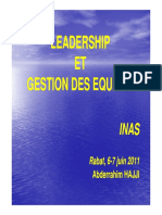 Leadership Gestion Equipes INAS Directeurs Juin 2011