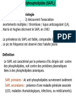 Le Syndrome Des Antiphospholipides (SAPL)