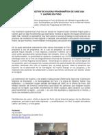 VISITA DE DIRECTOR DE CALIDAD PROGRAMÁTICA DE CARE USA