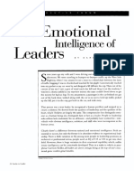 The Emotional Intelligence of Leaders (Goleman, 1998)(1)
