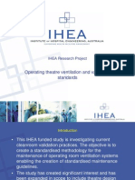 08 IHEA Research Project - Operating Theatre Ventilation and Validation Standards