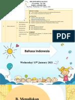Bahasa Indonesia (Wednesday 13th January 2021)