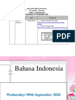Bahasa Indonesia Wednesday 9th of September 2020
