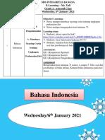 Bahasa Indonesia Wednesday, 6th of January 2021