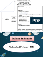 Bahasa Indonesia Wednesday, 20th of January 2021