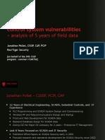 Presentation, Part 1 - SCADA-DCS Control Systems Vulnerability
