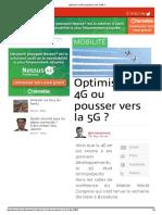 Optimiser La 4G Ou Pousser Vers La 5G