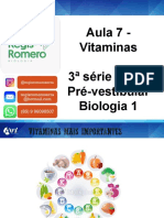 Aula 7 -  vitaminas - 3ª série - Biologia 1