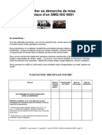 ISO 9001 PLANIFIER DEMARCHE