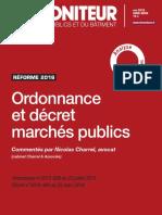 L'ordonnance et le décret marchés publics