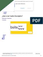 ¿Qué es un Cuadro Descriptivo_ Definición, ejemplos y más. _ Cultura 10