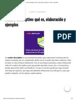 Cuadro Descriptivo_ Qué Es, Elaboración y Ejemplos _ Cuadro Comparativo