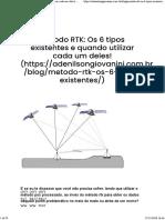 Método RTK_ Os 6 tipos existentes e quando utilizar cada um deles! - Adenilson Giovanini