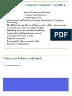 Module 1_Intro Consumer Behaviour