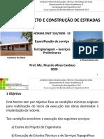 Especificações de Serviços Preliminares-dnit 104-2009 (2)