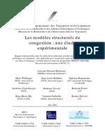 Rapport - Les Modèles Structurels de Congestion