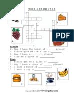 Food crosswords