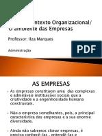 ADM aula 3 O Ambiente das empresas