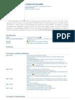 Currículo do Sistema de Currículos Lattes (Luciano Castro de Carvalho)