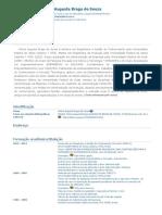 Currículo do Sistema de Currículos Lattes (Vitória Augusta Braga de Souza)