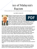 The Price of Malaysia's Racism