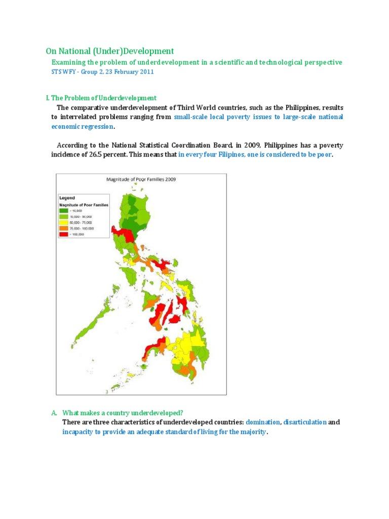 characteristics of underdevelopment