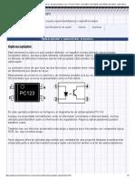 Optoacopladores u optoaisladores, funcionamiento y uso, PC123, PC817, MOC3041, MOC3042, MOC3043, MOC3011 y MOC3012_