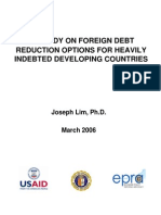 A Study on Foreign Debt Reduction Options for Heavily Indebted Development Countries