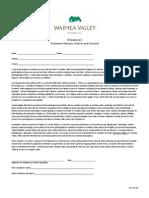waimea Volunteer Liability Waiver - REV 060409