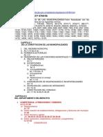 INDICE DE LA LEY ORGANICA DE LAS MUNICIPALIDADES (1)