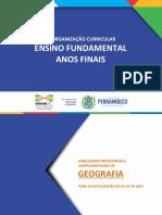 ANOS FINAIS - GEOGRAFIA - REORGANIZAÇÃO CURRICULAR