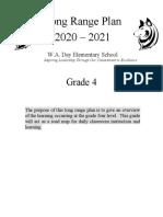 grade 4 long range plan