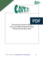 CAPE91_Devenir des anciens du LBP promo 2020